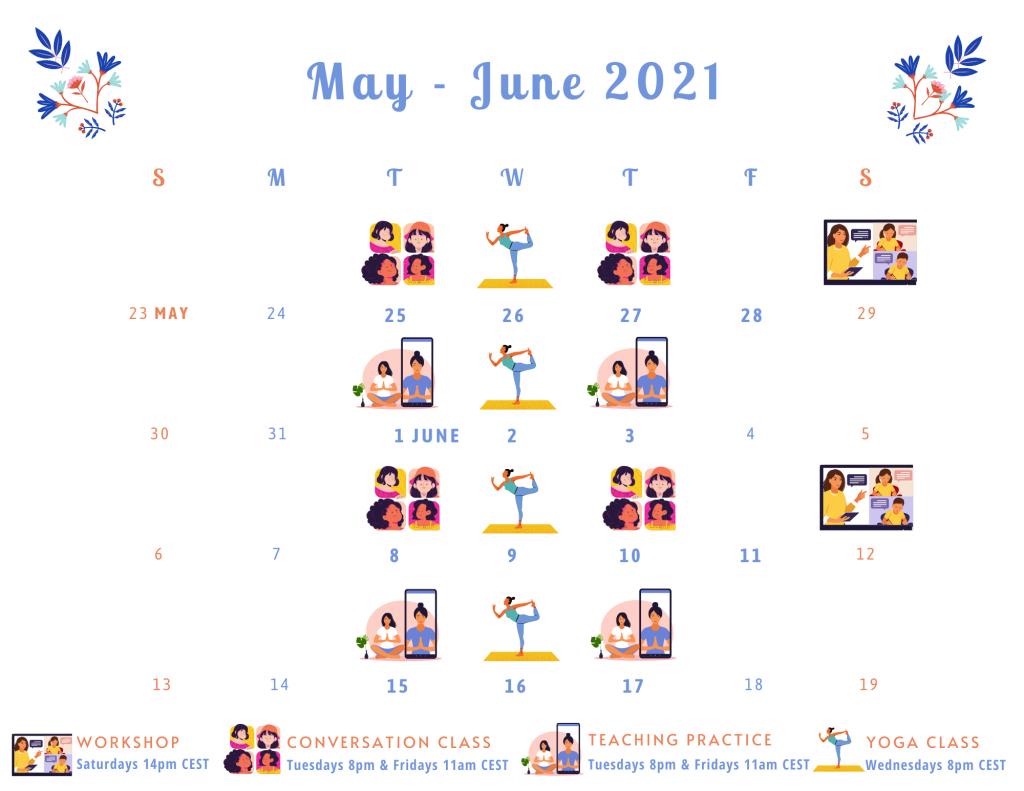 Workshop Series Schedule May June