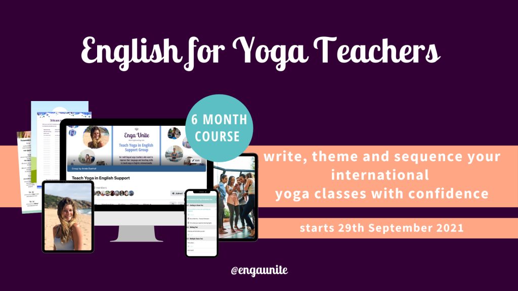 Thank you English for yoga teachers